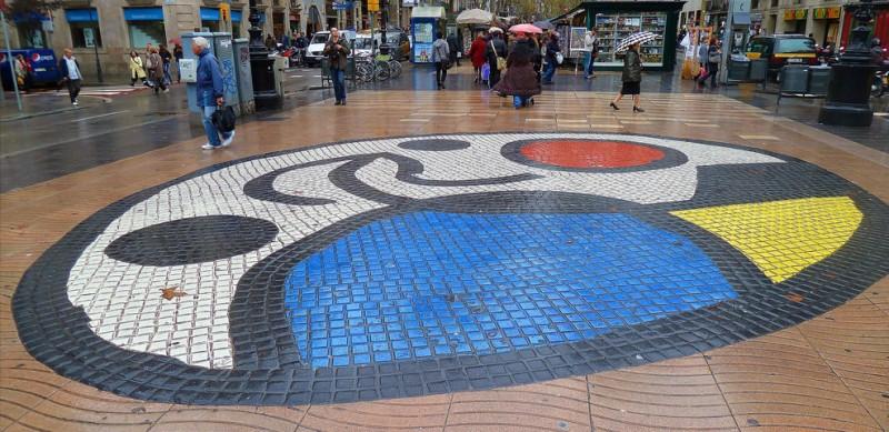 Мозаика на тротуаре