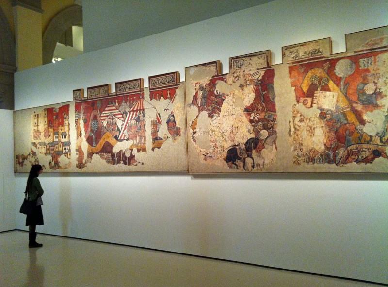 Фрески «Завоевание Майорки» в настоящее время выставлены в MNAC