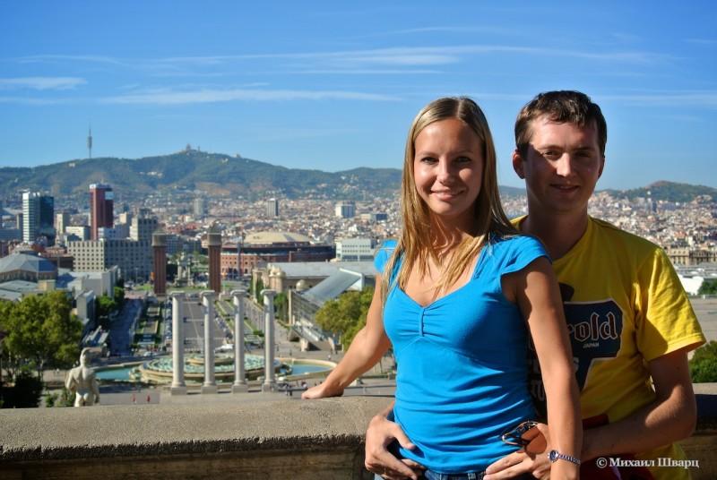 Прекрасный вид на фонтан и Площадь Испании