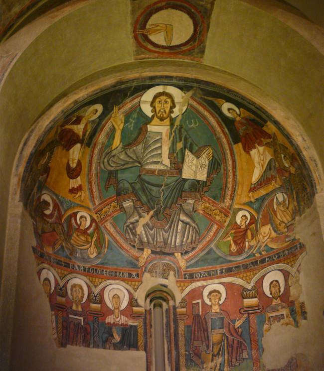 Фрагменты фресковой росписи центральной апсиды церкви Сант-Климент