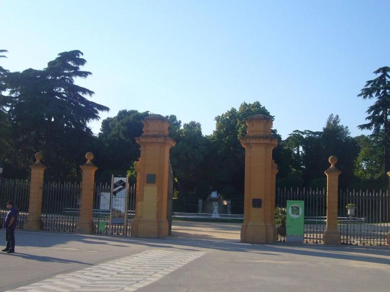 Вход в парк Педральбес