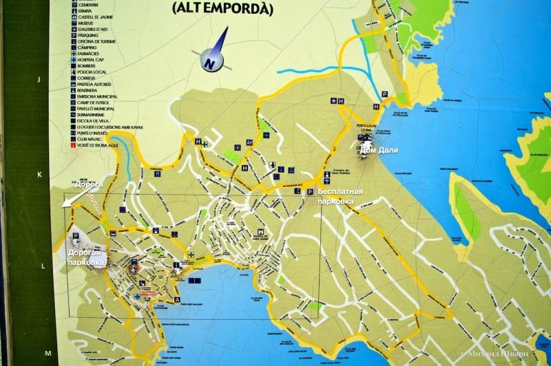 Карта Кадакеса
