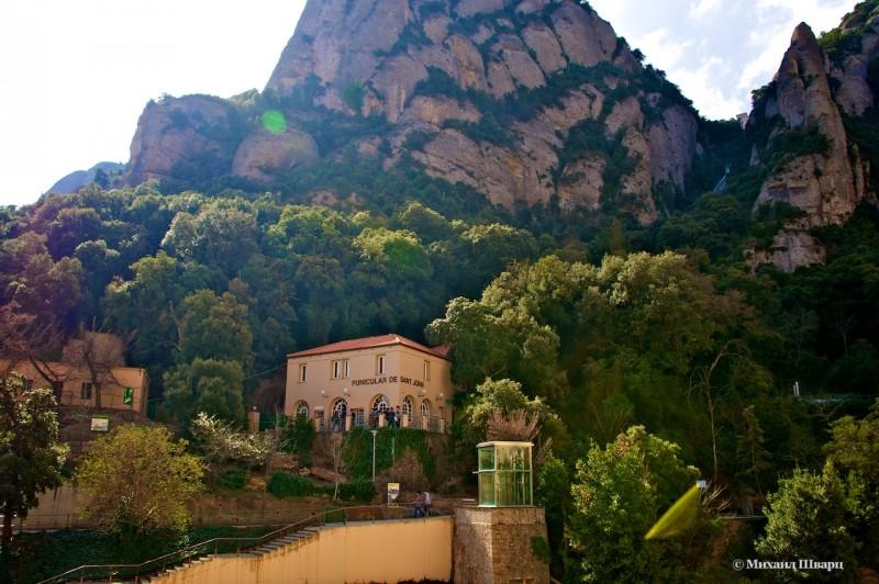 Неприметная станция фуникулера Sant Joan