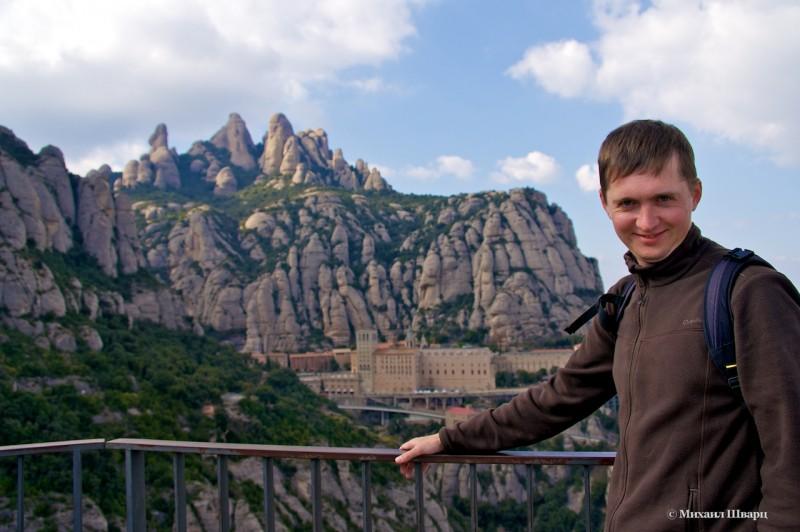 Фото на фоне монастыря монтсеррат