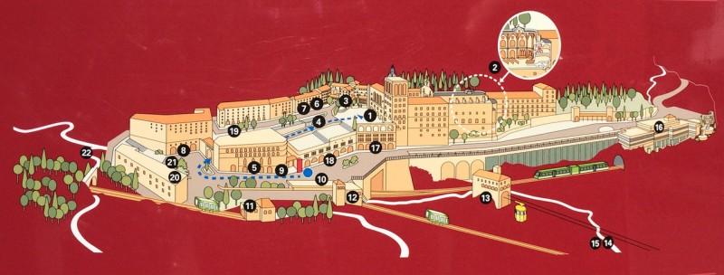 Карта монастыря Монтсеррат