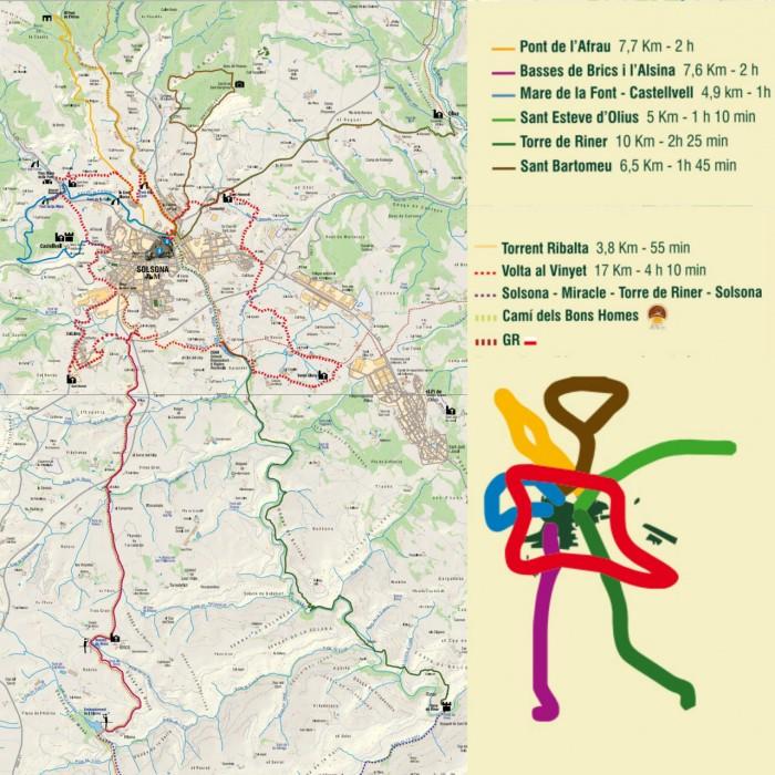 Несколько маршрутов по окрестностям Сольсоны