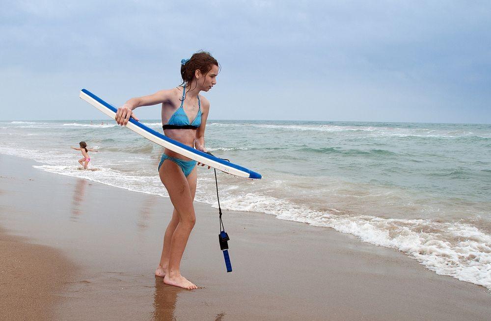 Серфинг на пляже Кастельдефельс (Castelldefels)