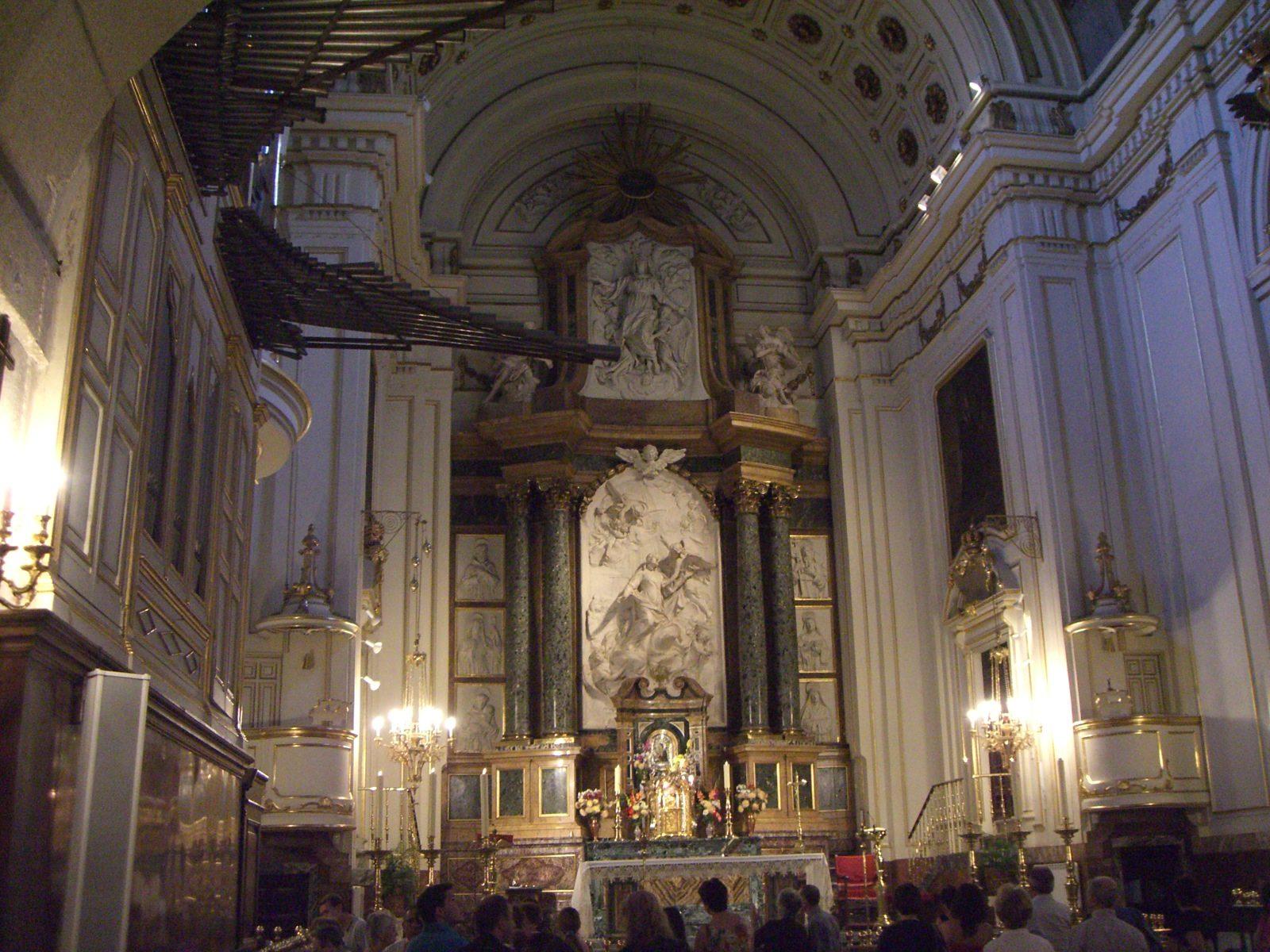 Внутреннее убранство монастырской церкви, фото Alejandro