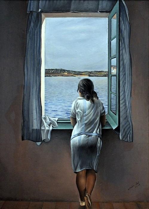 Сальвадор Дали «Девушка, стоящая у окна» (1925 г.)