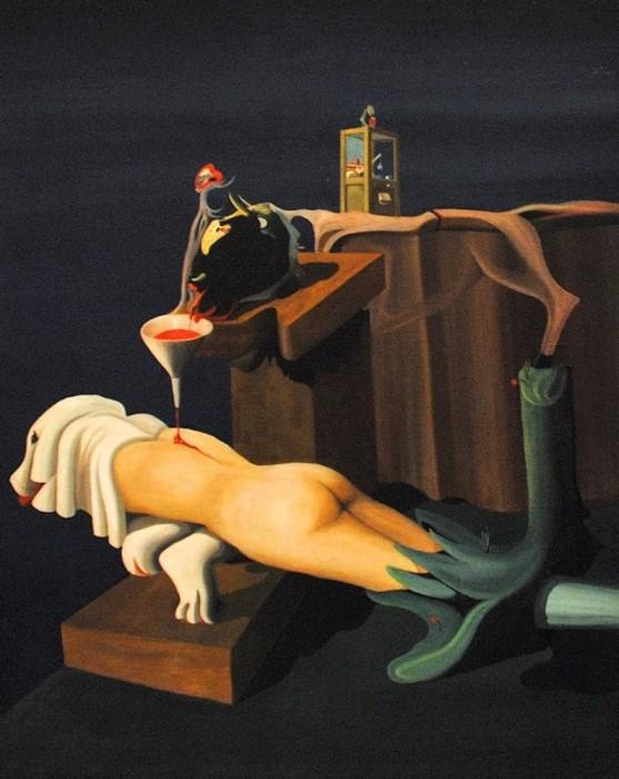 """Оскар Домингус """"Электросексуальная швейная машина"""", (1934-35гг.)"""