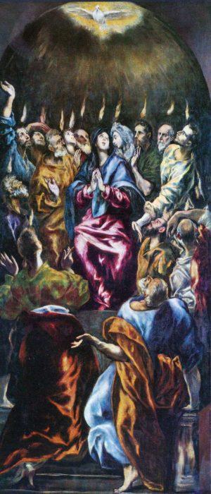 Эль Греко «Сошествие Святого Духа на апостолов», 1600 год