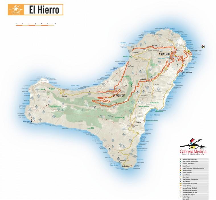 Карта острова Иерро