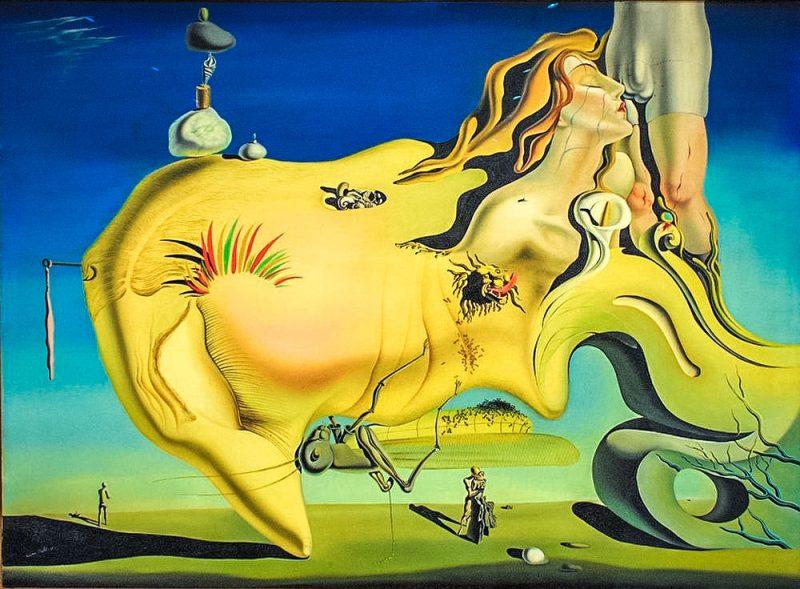 Сальвадора Дали «Великий мастурбатор», (1929г).