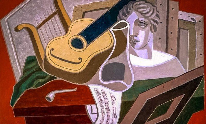 «Стол музыканта», Хуaн Грис (1926)