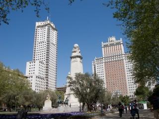 Площадь Испании и памятник Сервантесу