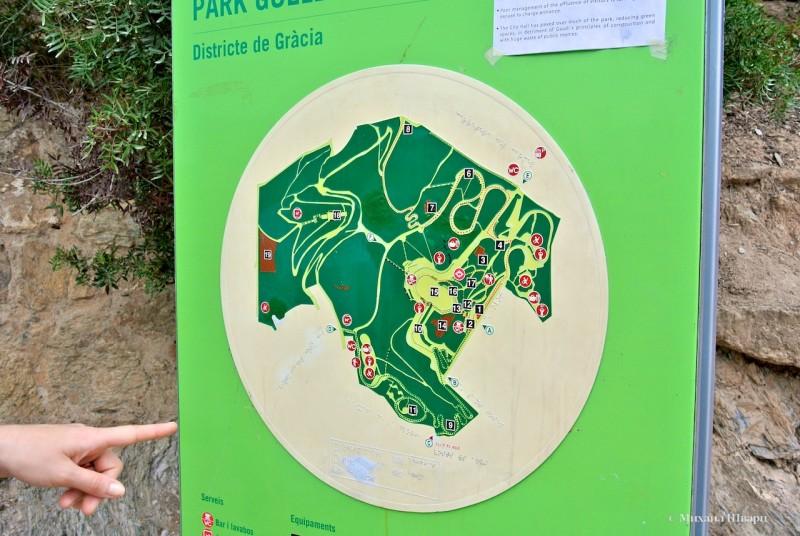 Карта достопримечательностей парка