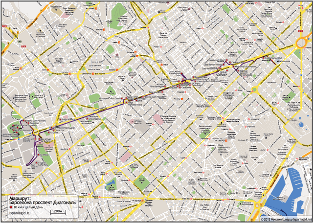barcelona-map-route-diagonal
