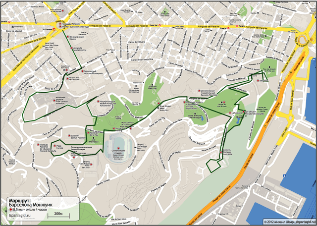 barcelona-map-route-montjuic