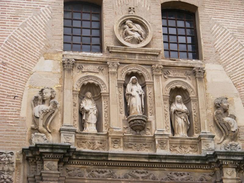 Скульптурное оформление входа