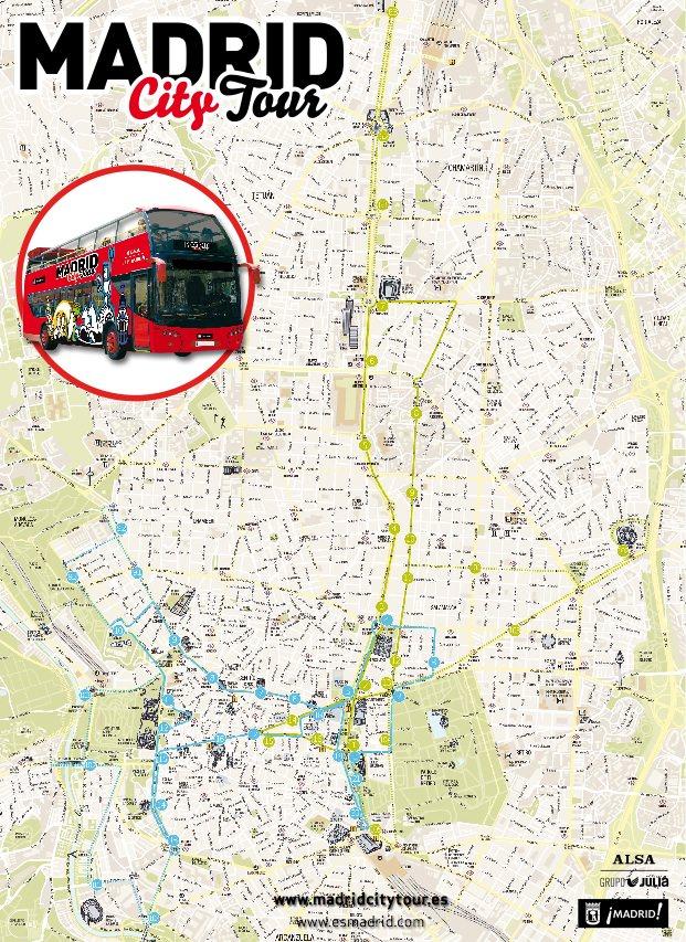 Экскурсионный автобус Hop on Hop Off в Мадриде