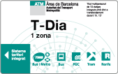 T-Dia (One-day travel card)