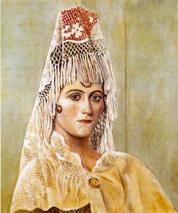 Ольга Хохлова в мантилье, 1917 год