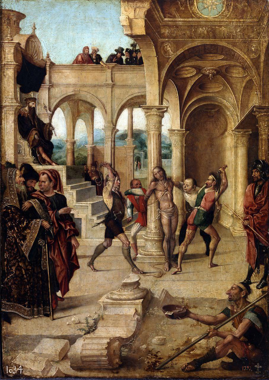 «Бичевание Христа» Алехо Фернандеса (1508 год)