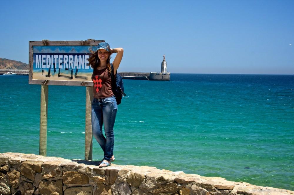 С это стороны Средиземное море