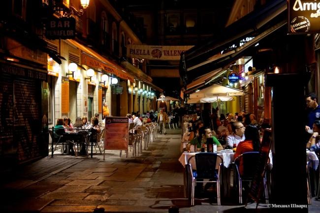 Ночная жизнь Мадрида только оживает