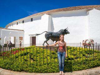 Статуя боевого быка на родине корриды