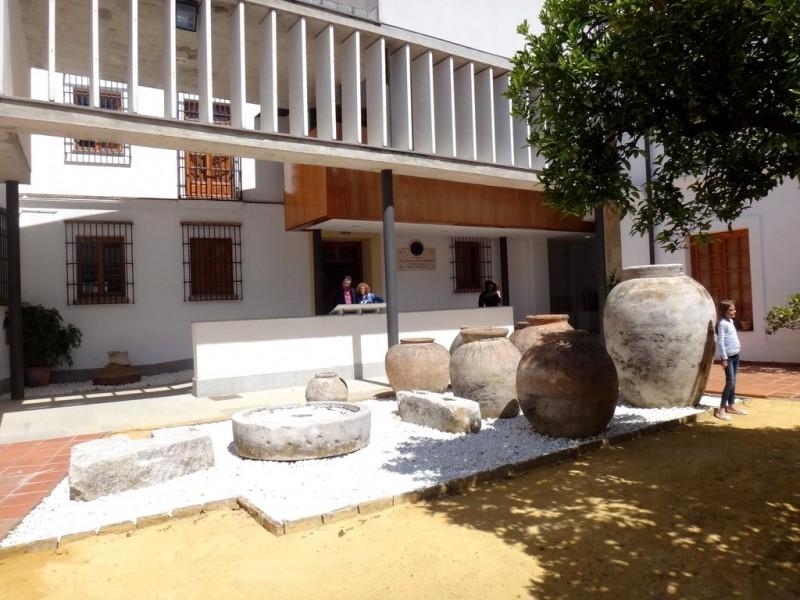 Во внутреннем дворе музея