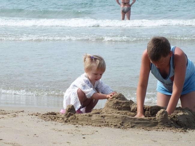 Песок рай для детей
