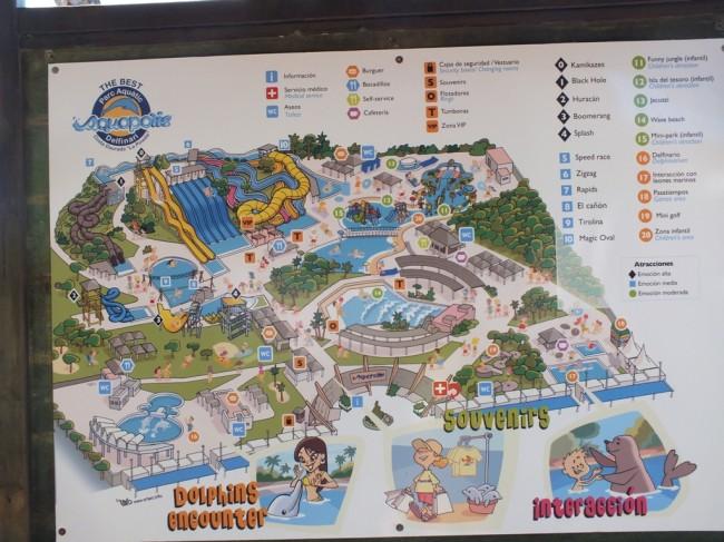 План аквапарка Аквополис