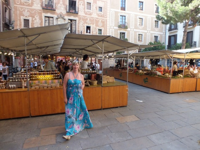 Рынок в готическом квартале Барселона