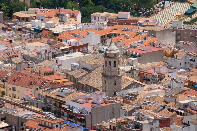 Вид на базилику святого Ильдефонса (Basílica de San Ildefonso)