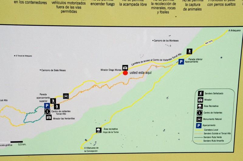 Карта заповедника Эль Торкаль
