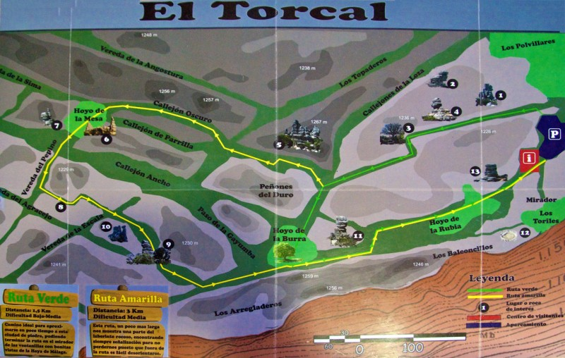 Маршруты по парку Торкаль (Torcal)