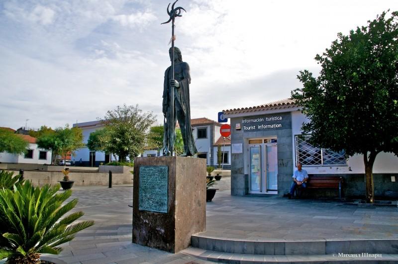 Памятник вождю гуанчей в Santiago Del Teide