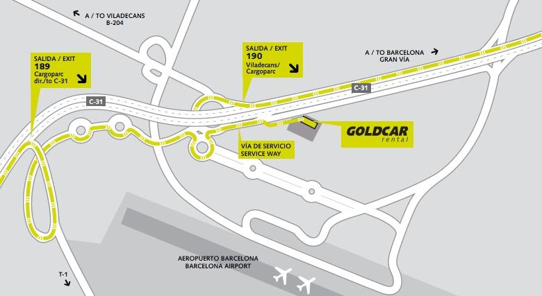 офис Goldcar в аэропорту Барселоны