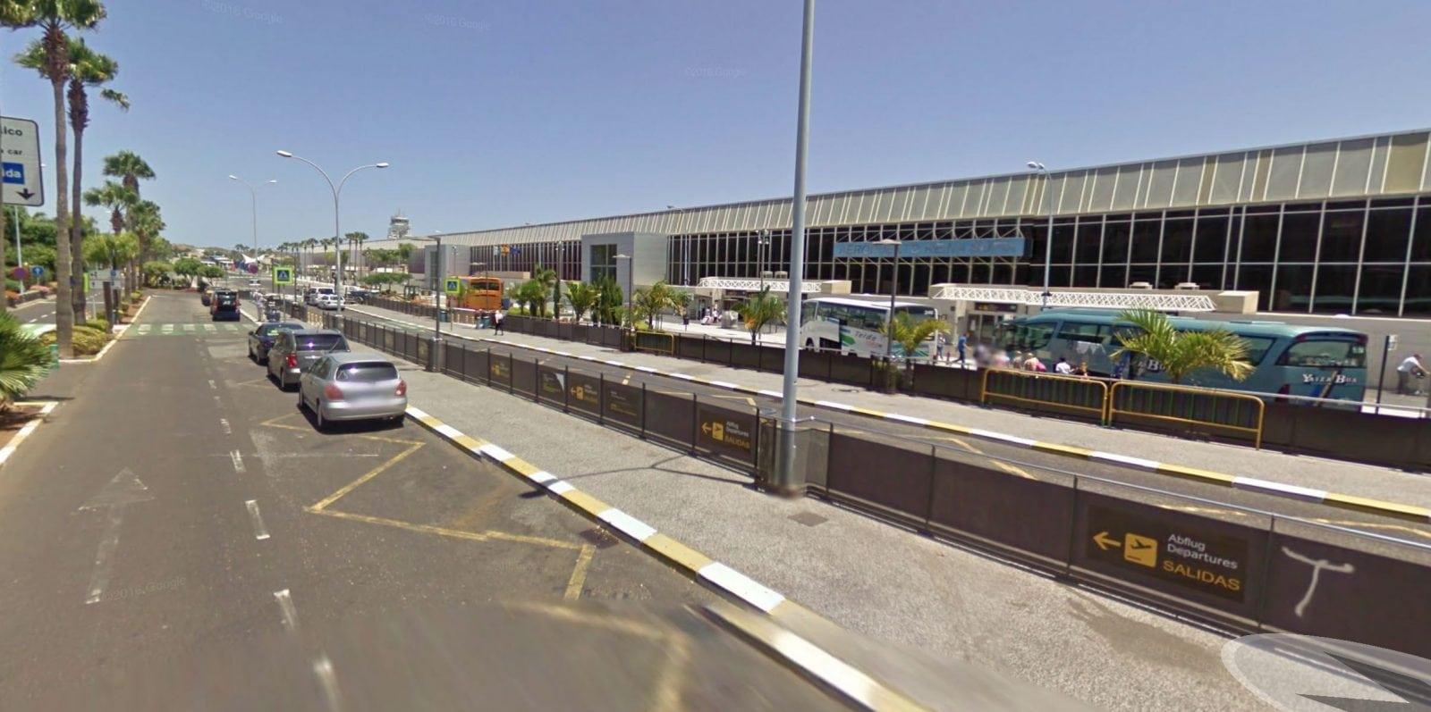 Зона высадки в аэропорту Тенерифе
