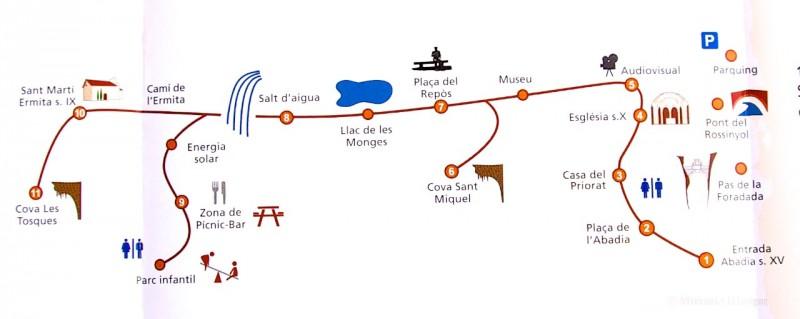 План парка Sant Miquel del Fai