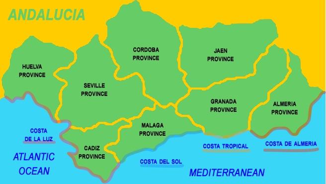 Четыре пляжных района Андалусии