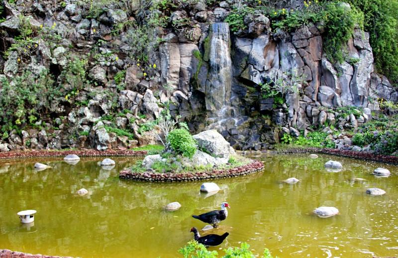 Искусственный водопад в саду Вьера и Клавихо