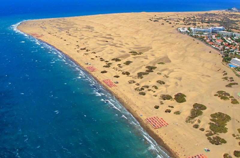 Большая дюна на юге Гран-Канарии