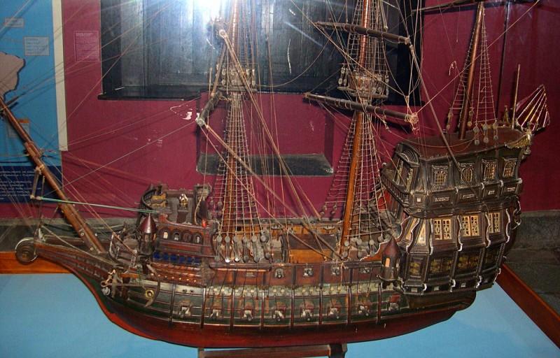Модель корабля в Музее великих географических открытий