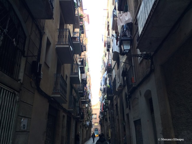 Наша улочка в районе Раваль