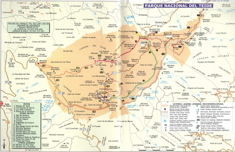 Карта парка и вулкана
