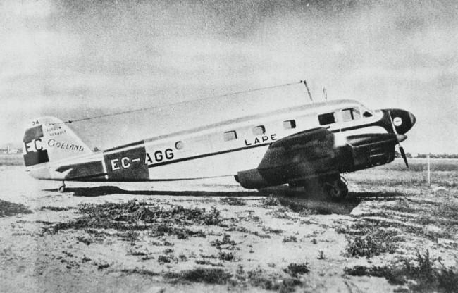 Самолет испанских почтовых авиалиний (LAPE)