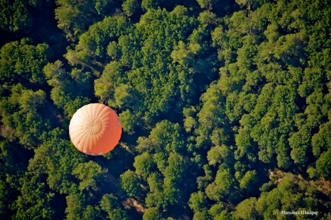 Обогнали оранжевый шар
