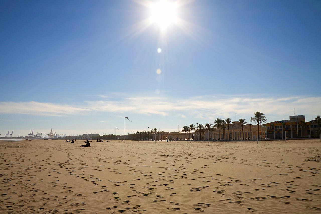 Пляж в валенсии фото